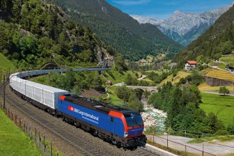 Freight train in Switzerland. Photo: Siemens