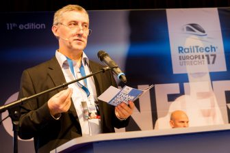 Marc Antoni of UIC at the RailTech Europe 2017 conference