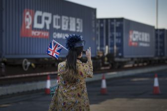 China's first direct rail freight train arrives London