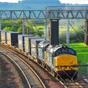 Rail freight line in UK