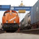 Shunting locomotive at the Ludwigshafen KTL terminal, Photographer: Markus Heimbach