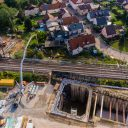 Aerial picture of the Rastatt tunnel on 17-8-17. Photo credit: Benedikt Spether