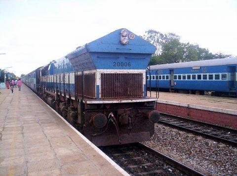 Indian Railways freight train. Photo credit: Mikhail Esteves