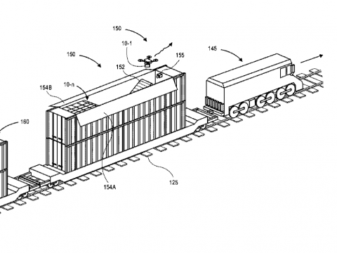 An intermodal vehicle equipped with a drone facility. Photo credit: Amazon