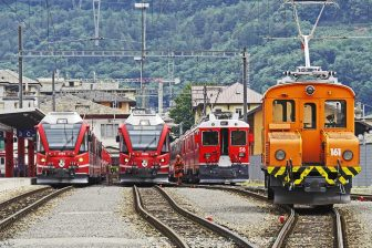 Freight trains on north-south corridor Europe