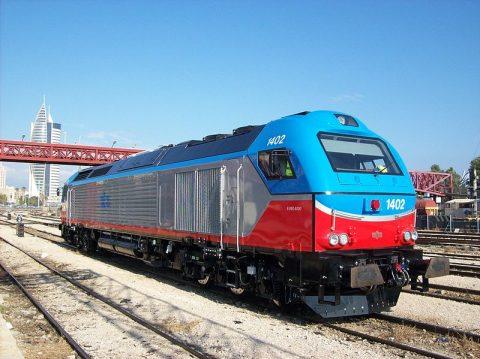 Israel Railways locomotive. Photo credit: Chen Melling