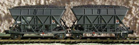 SNCF twin coal wagon
