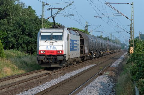 Freight train on the Betuwe Route between Germany and the Netherlands. Photo credit: Rob Dammers