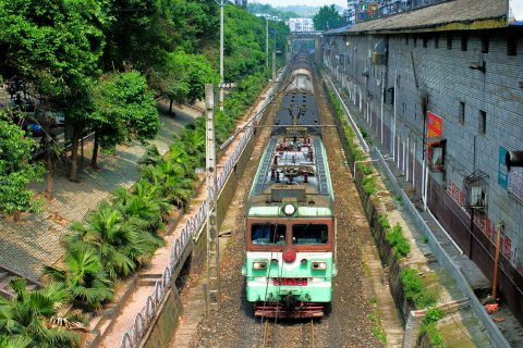 Train on Chongqing railway