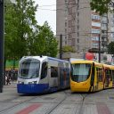 Siemens and Alstom light rail vehicle