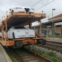 Freight train of Mercitalia Rail, a subsidiary of Ferrovie dello Stato