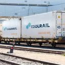 Cool Rail containers on rail