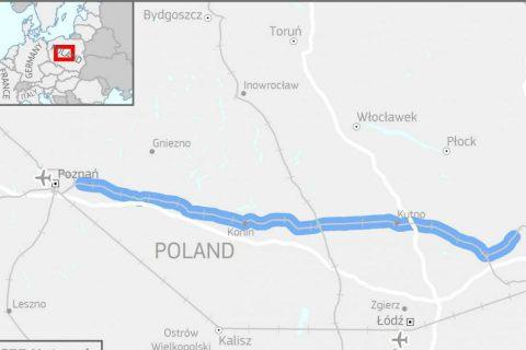 E20 line Poznan-Warsaw