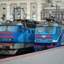 Electric locomotives at, Odessa station, Ukraine. PPhoto: Wikimedia Commoms