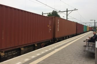 Freight train at Tilburg, the Netherlands