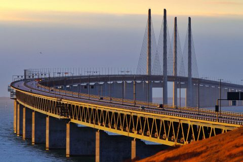 Öresund Bridge connecting Denmark and Sweden. Photo: Pixabay