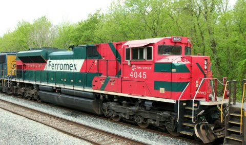 Freight train of Mexican railway operator Ferromex. Source: Ferromex