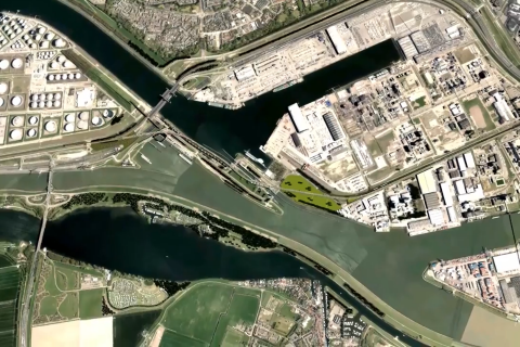 Theemsweg route. Photo: still from video by Port of Rotterdam
