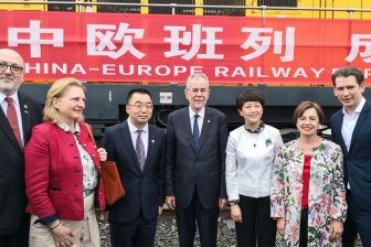 The opening of the Vienna-Chengdu line. Photo: OBB