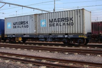 Maersk freight train. Photo: Col André Kritzinger