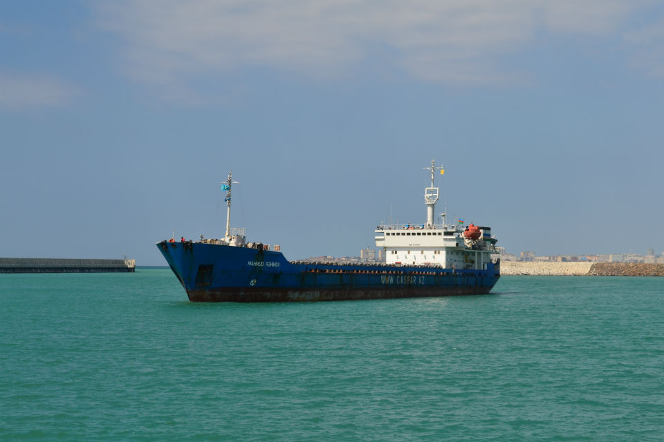 Vessel Mahmud Rehimov at the Caspian Sea