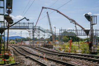 Construction work at Rastatt. Photo: Thomas Niedermüller / DEUTSCHE BAHN