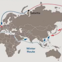 The Northern Sea Route. Photo from presentation of Baozhi Cheng