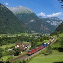 Freight train in Switzerland. Photo: Wikimedia Commons