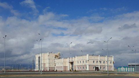 Administrative building near Khorgos. Photo: Alexandru Panoiu