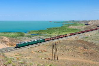 Freight train in Kazakhstan. Photo: Wikimedia Commons