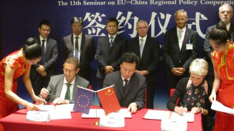 ZHENGZHOU, FERRMED and UIC signing the cooperation agreement. Photo: FERRMED
