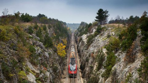 Divača-Koper railway. Photo: Slovenian government