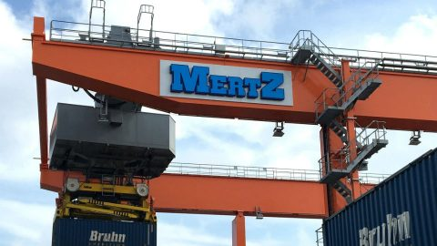 Mertz Terminal in Malmö. Photo: Kombiverkehr
