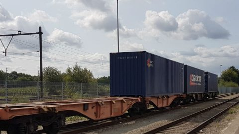 Railport Brabant, train on the way to China
