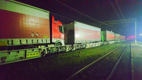 Ro-La train CFR Marfa. Photo: Ministry of Transport of Romania