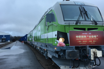 Finnish train to China. Photo: Kouvola Innovation