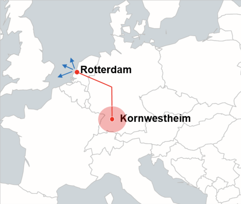 Rotterdam-Kornwestheim railway connection. Photo: Hupac