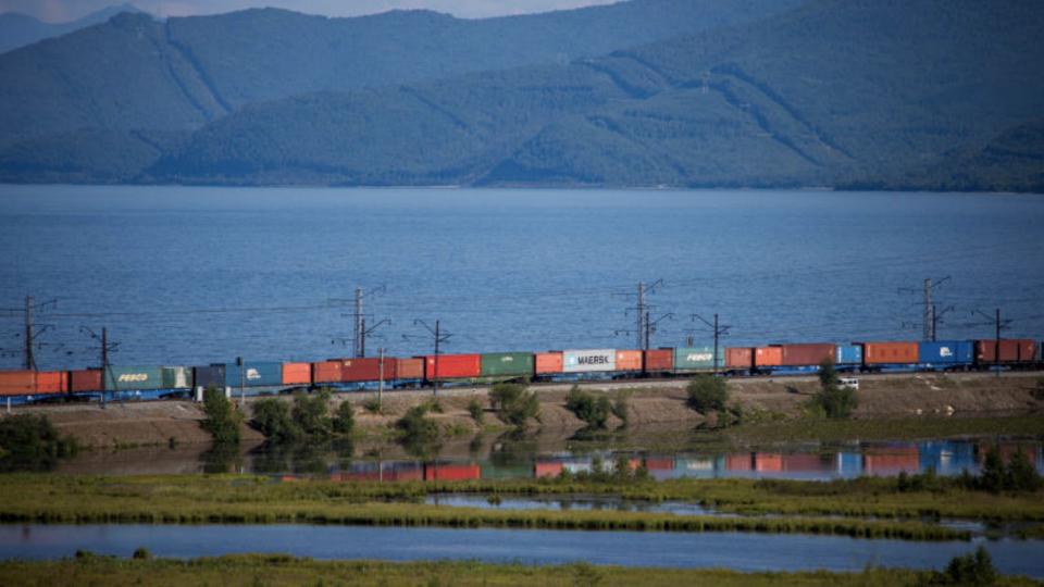 Russia-China train. Photo: RZD
