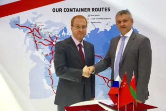 Signing of agreement RZD Logistics and Belarus Railways