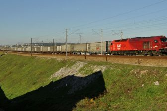 Geodis-operated train. Photo: Nelso Silva