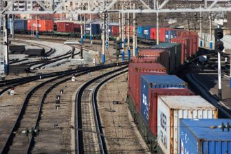 Containers on Russian railway network