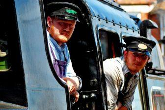 Train drivers, illustrative