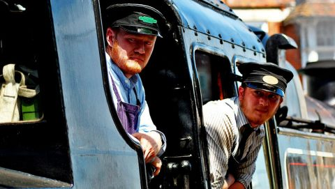 Train drivers, illustrative
