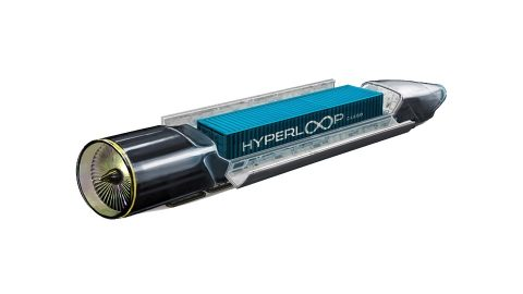 Container in Hyperloop, source: Hyperloop Technologies
