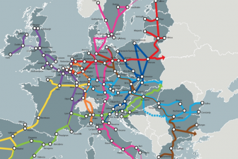 Core network corridors Europe