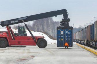 Intermodal terminal in Moscow region, source: Russian Railways