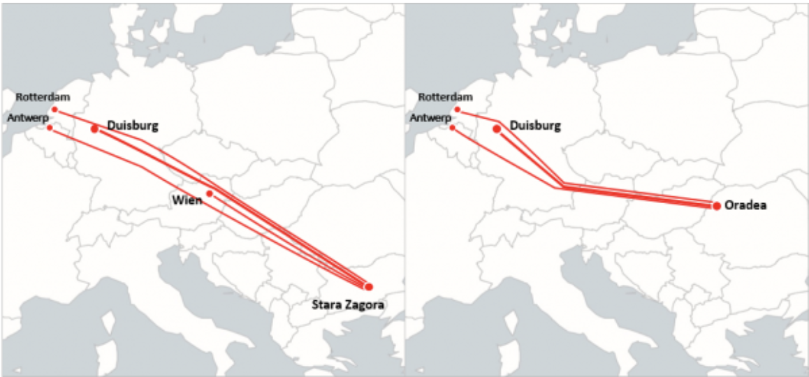 New connections with Oradea and Stara Zagora