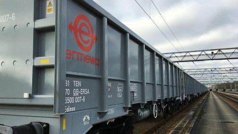 Ermewa open top railcar. Illustrative