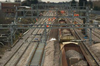 Aerial Shot Gidea Park Track Renewal