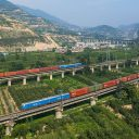 Chinese freight trains near Yuanlong, source: Wikipedia